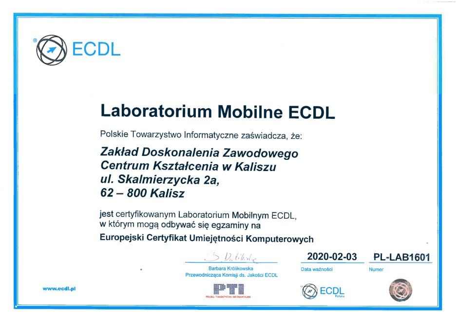Laboratorium Mobilne ECDL